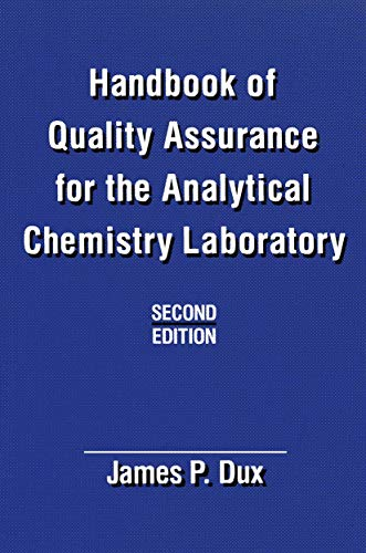 9780442239541: Handbook of Quality Assurance for the Analytical Chemistry Laboratory