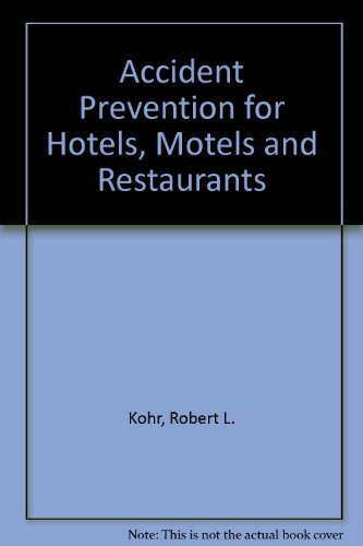 9780442239558: Accident Prevention for Hotels, Motels, and Restaurants