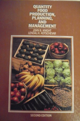 9780442240165: Quantity Food Production, Planning, and Management