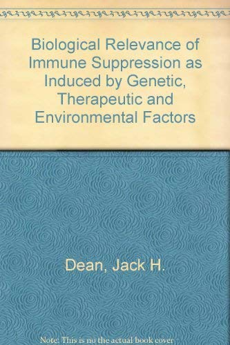 Biological Relevance of Immune Suppression: Alterations by Genetic, Environmental and Therapeutic ...