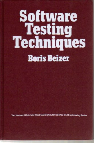 9780442245924: Software Testing Techniques (Van Nostrand Reinhold electrical/computer science and engineering series)