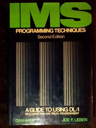 9780442246556: IMS programming techniques: A guide to using DL/I