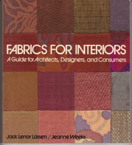9780442246839: Fabrics for Interiors: A Guide for Architects, Designers, and Consumers