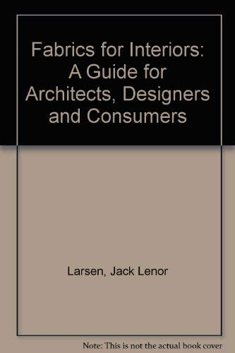 9780442246846: Fabrics for Interiors: A Guide for Architects, Designers and Consumers