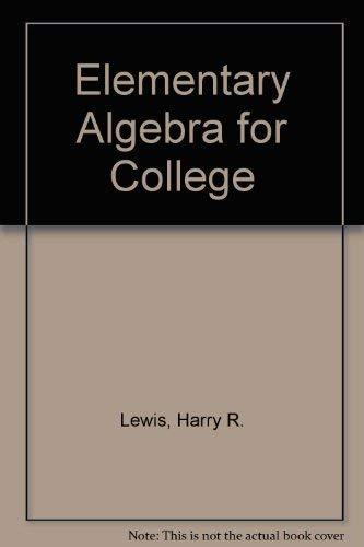 9780442247676: Elementary Algebra for College
