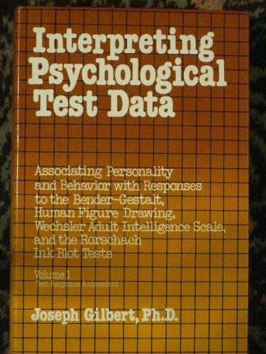 9780442253134: Interpreting Psychological Test Data: v. 1