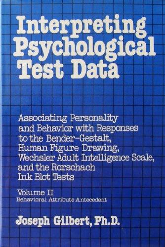 9780442253240: Interpreting Psychological Test Data