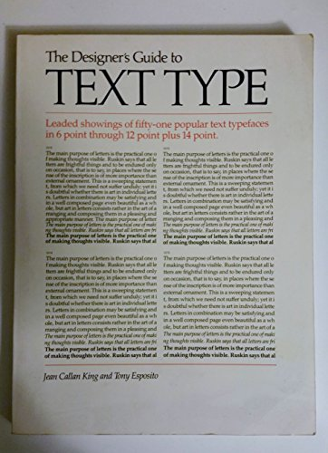 9780442254254: The Designer's Guide to Text Type: Leaded Showings of Fifty-One Popular Text Typefaces in 6 Point Through 12 Point Plus 14 Point