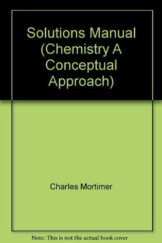 9780442255466: Solutions Manual (Chemistry A Conceptual Approach)