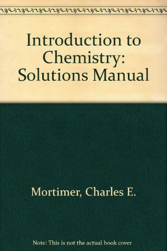 9780442255701: Introduction to Chemistry: Solutions Manual