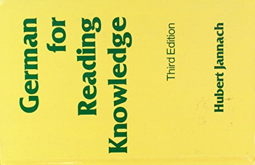 9780442256968: German for Reading Knowledge (English and German Edition)