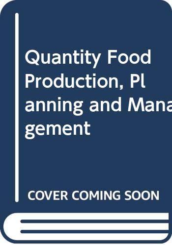 9780442257453: Quantity Food Production Planning