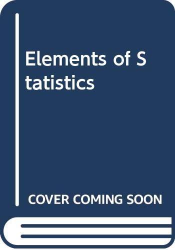 9780442257712: Elements of Statistics