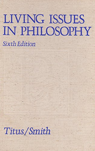 9780442258207: Living Issues in Philosophy