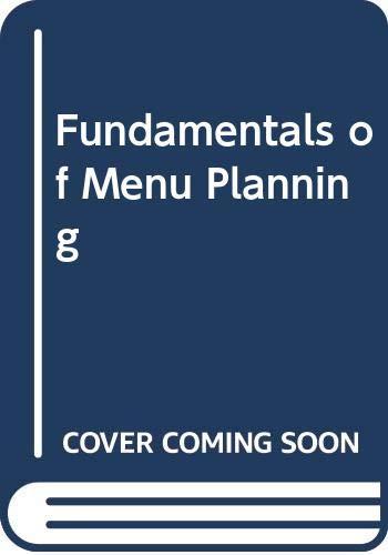 9780442264925: Fundamentals of Menu Planning