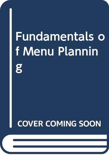 9780442264925: Fundamentals of Menu Planning