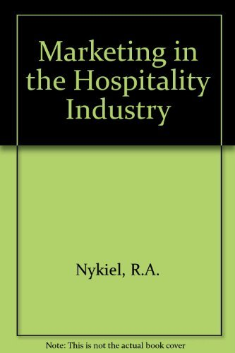 9780442266974: Marketing in the Hospitality Industry