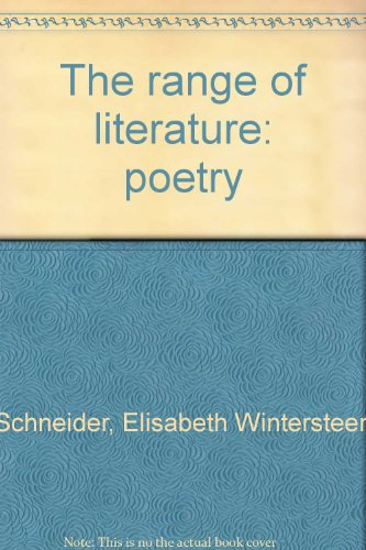 9780442274375: The range of literature: poetry
