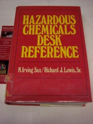 9780442282080: Hazardous chemicals desk reference