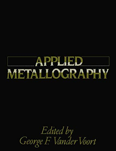 9780442288365: Applied Metallography