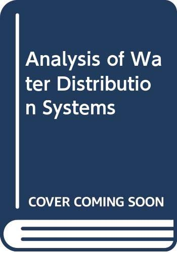 9780442291921: Analysis of Water Distribution Systems