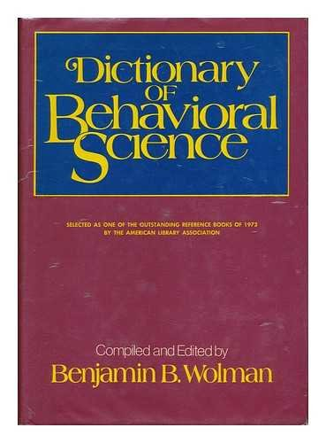 9780442295660: Dictionary of Behavioral Science