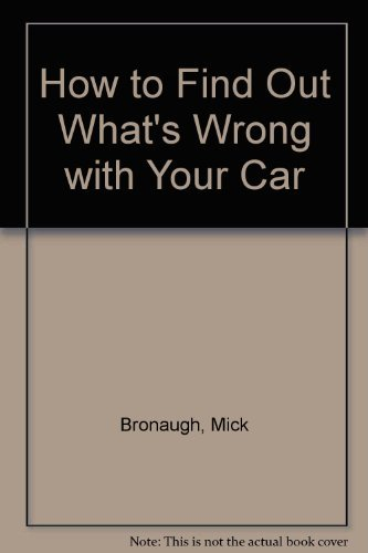 9780442297312: How to Find Out What's Wrong with Your Car