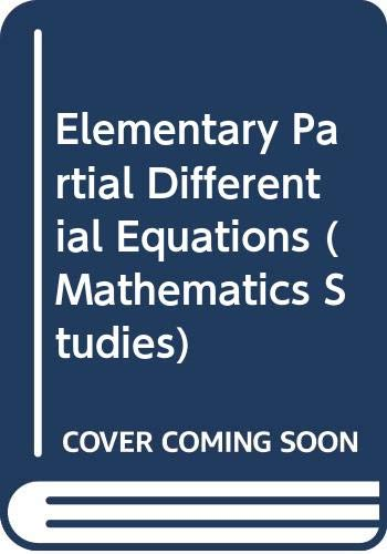 9780442300562: Elementary Partial Differential Equations