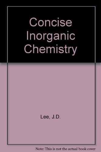 Ebook Inorganic Chemistry Jd Lee