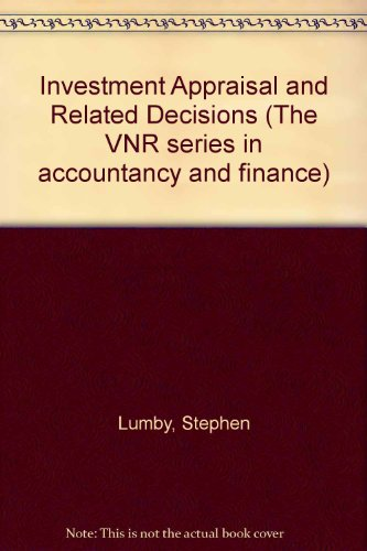 9780442306014: Investment Appraisal and Related Decisions
