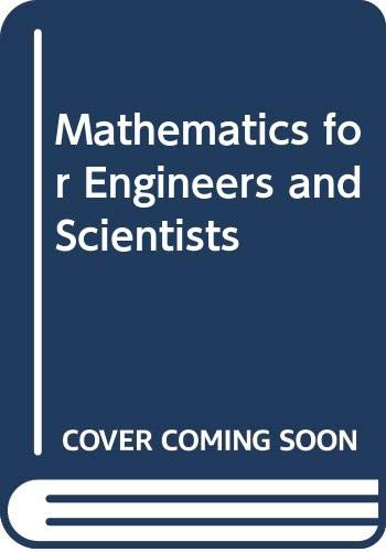 Mathematics for Engineers and Scientists (0442307292) by Alan Jeffrey