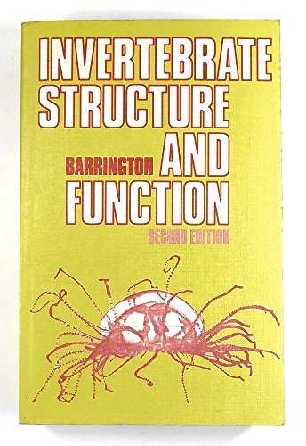 9780442307721: Invertebrate Structure and Function