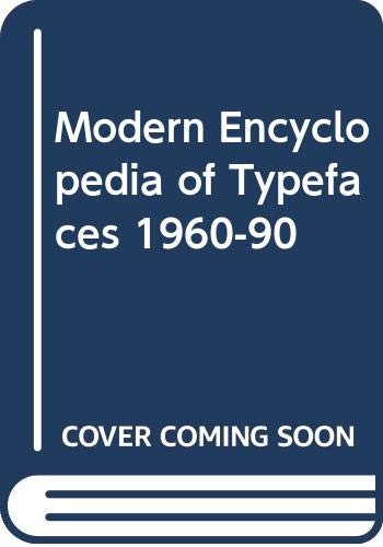 9780442308094: Modern Encyclopedia of Typefaces 1960-90