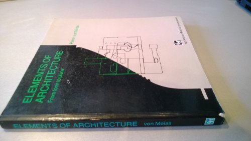 9780442311513: Elements of Architecture