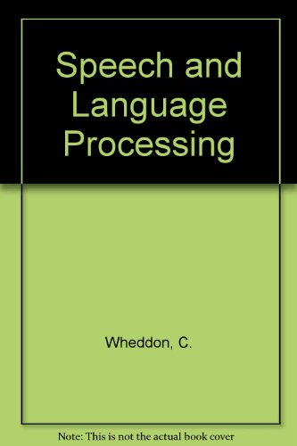 9780442312077: Speech and Language Processing
