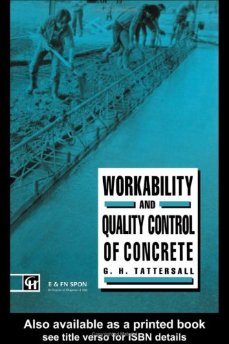9780442312459: Workability and Quality Control of Concrete