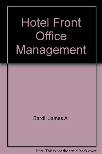 9780442318611: Hotel Front Office Management