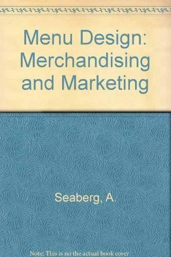 9780442319588: Menu Design: Merchandising and Marketing