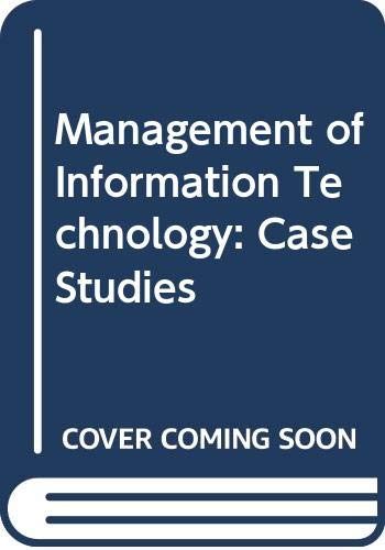 9780442802868: Management of Information Technology: Case Studies