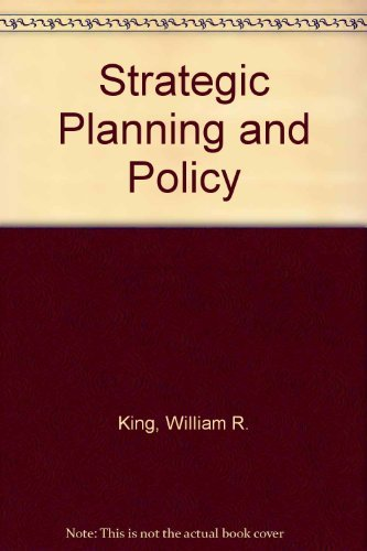 9780442804404: Strategic Planning and Policy