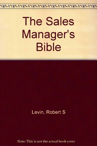 9780442804688: The Sales Manager's Bible
