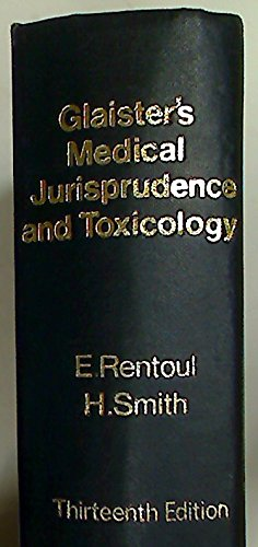 9780443008948: Glaister's medical jurisprudence and toxicology