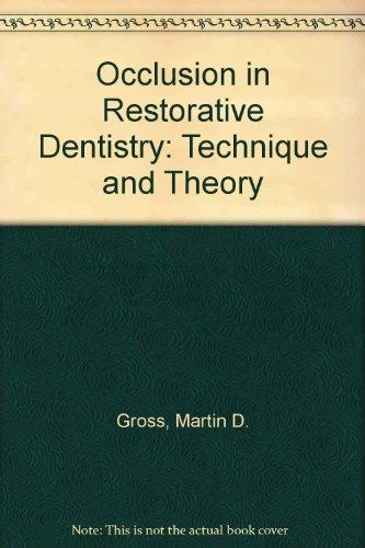 9780443017025: Occlusion in Restorative Dentistry