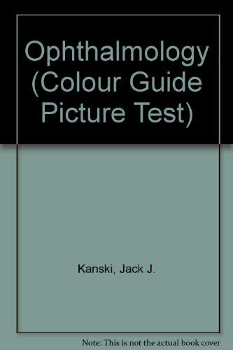 9780443050053: Picture Test in Ophthalmology (Colour Guide. Picture Tests)