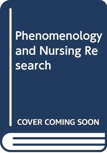 9780443054327: Phenomenology and Nursing Research