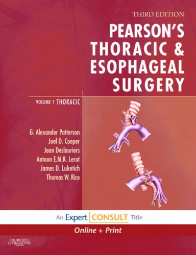 9780443068515: Pearson's Thoracic Surgery: Expert Consult: Online and Print