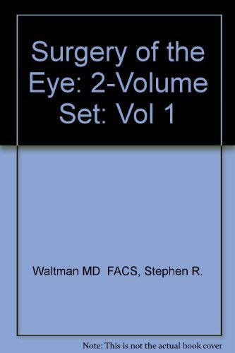 9780443083549: Surgery of the Eye (Vol 1)