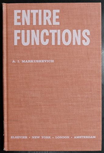 9780444000095: Entire Functions.
