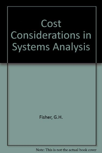 9780444000873: Cost Considerations in Systems Analysis