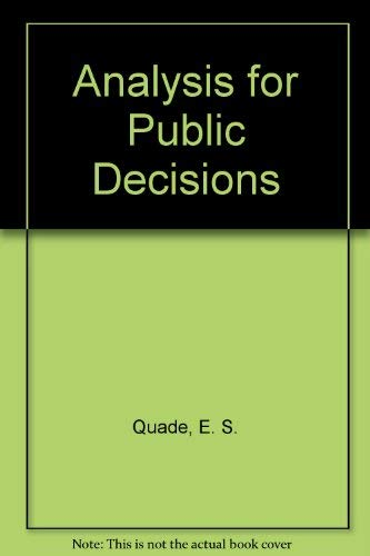 9780444001535: Analysis for Public Decisions